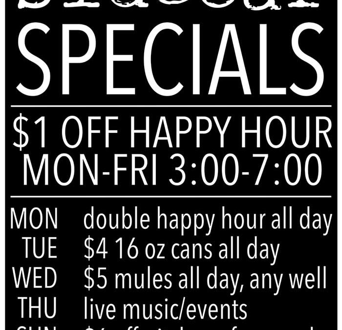 Have you seen our drink specials?